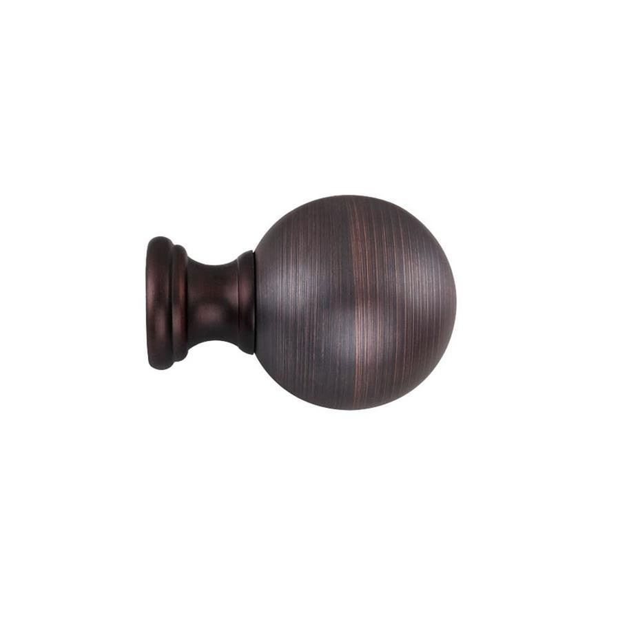 allen + roth 2-Pack Oil Rubbed Bronze Resin Curtain Rod Finials