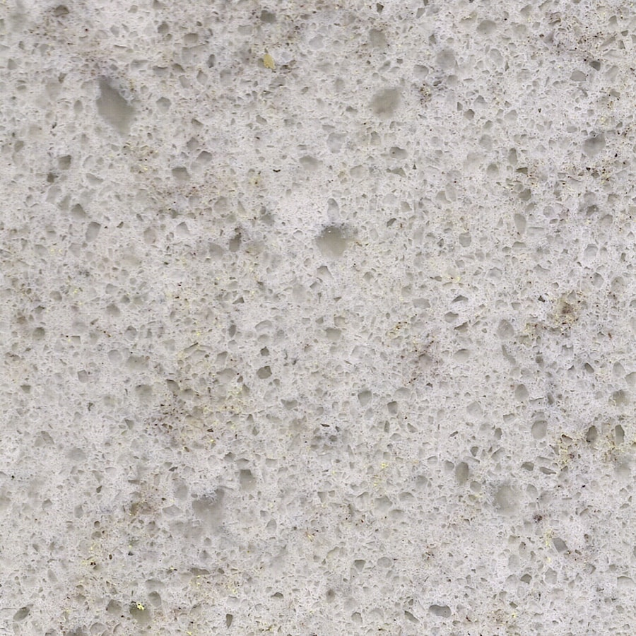 Shop allen roth angel ash quartz kitchen countertop for Lowes countertops
