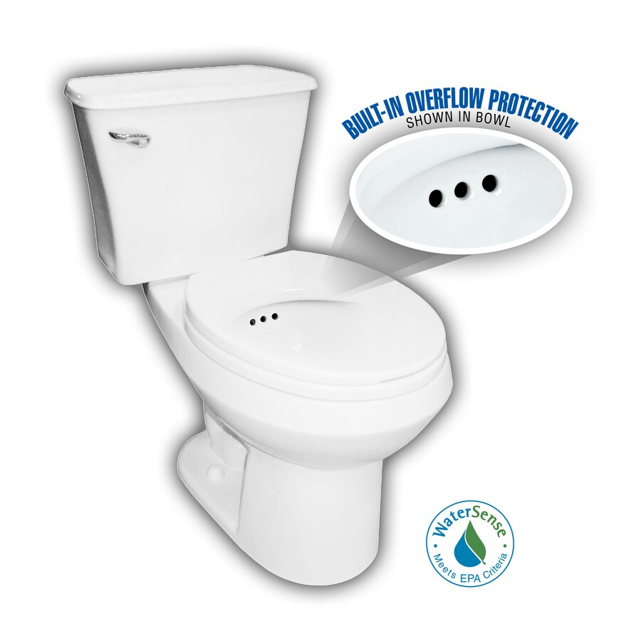 Penguin Toilets White 1.28-GPF (4.85-LPF) 12-in Rough-In WaterSense Round 2-Piece Comfort Height Toilet