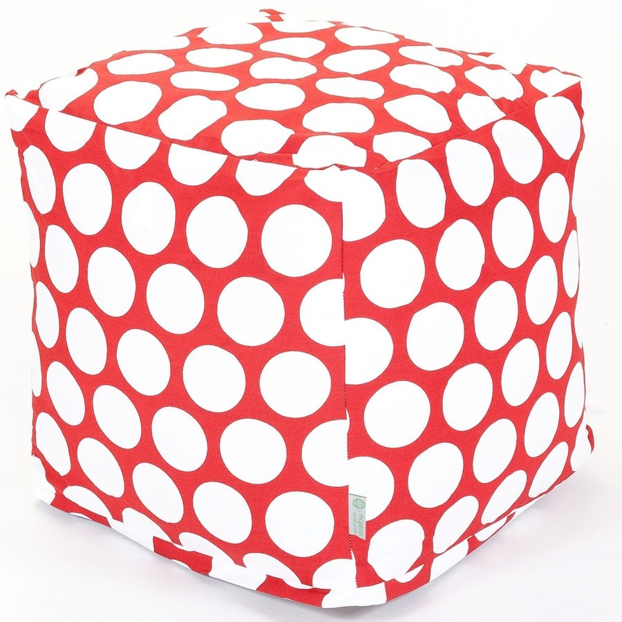 Majestic Home Goods Red Hot Large Polka Dot Bean Bag Chair