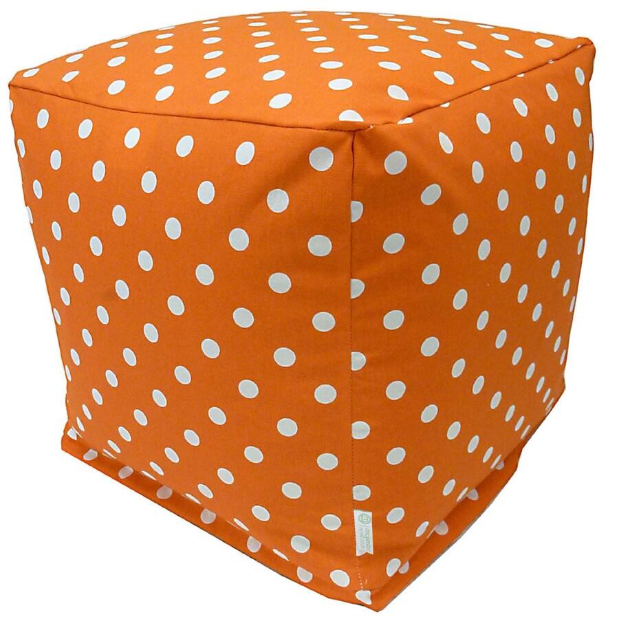 Majestic Home Goods Tangerine Small Polka Dot Bean Bag Chair