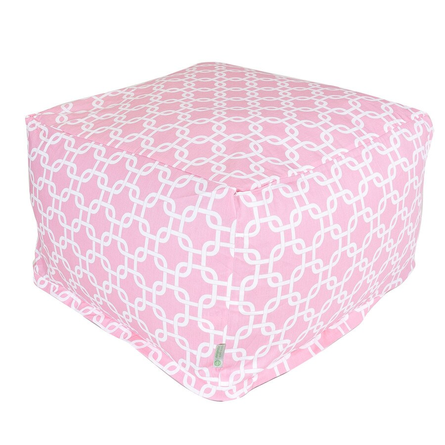 Majestic Home Goods Soft Pink and White Bean Bag Chair