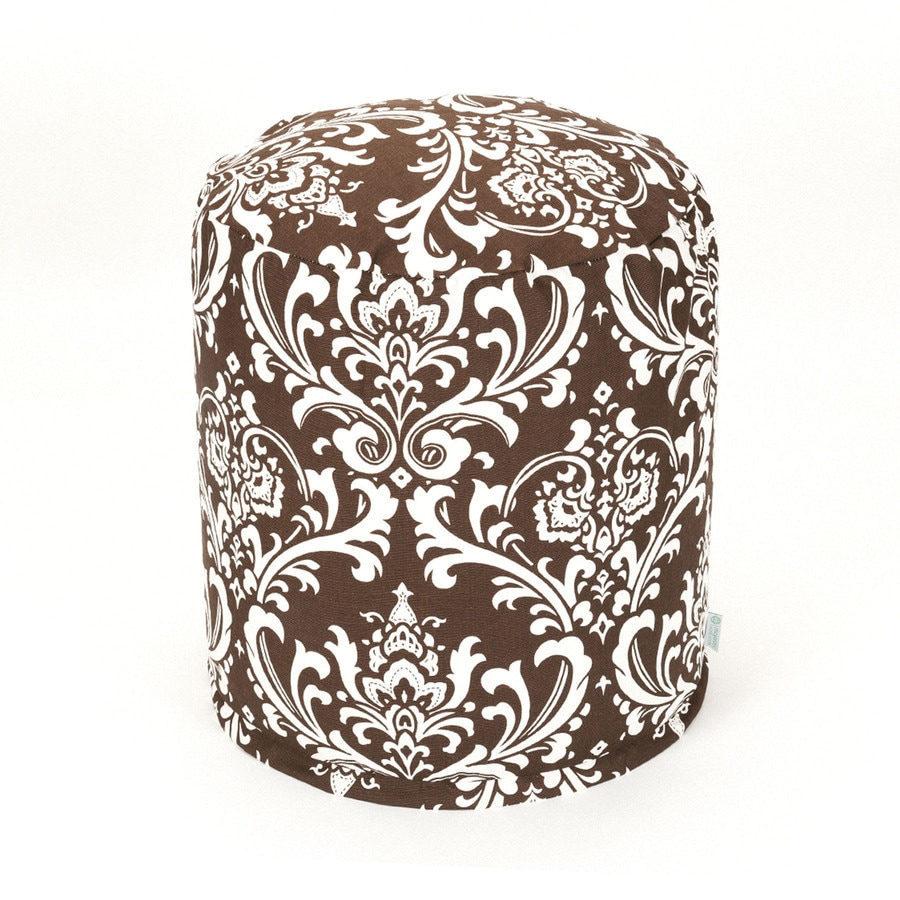 Majestic Home Goods Chocolate and White Bean Bag Chair