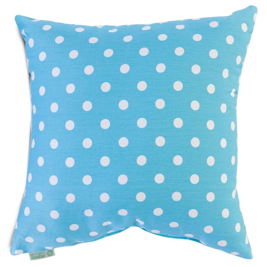 Majestic Home Goods 20-in W x 20-in L Aquamarine Square Indoor Decorative Complete Pillow