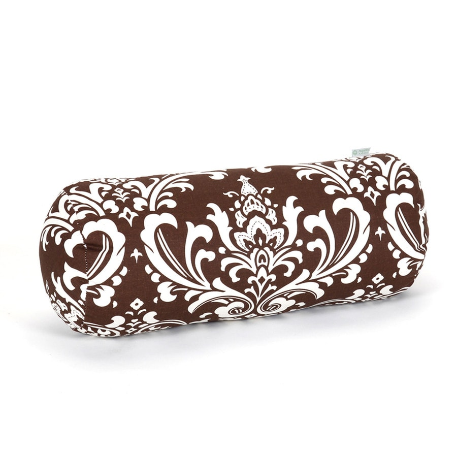 Majestic Home Goods 8-in W x 18.5-in L Chocolate Oblong Indoor Decorative Complete Pillow