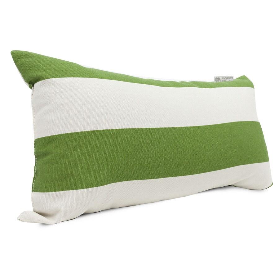 Majestic Home Goods Sage Horizontal Stripe Rectangular Outdoor Decorative Pillow