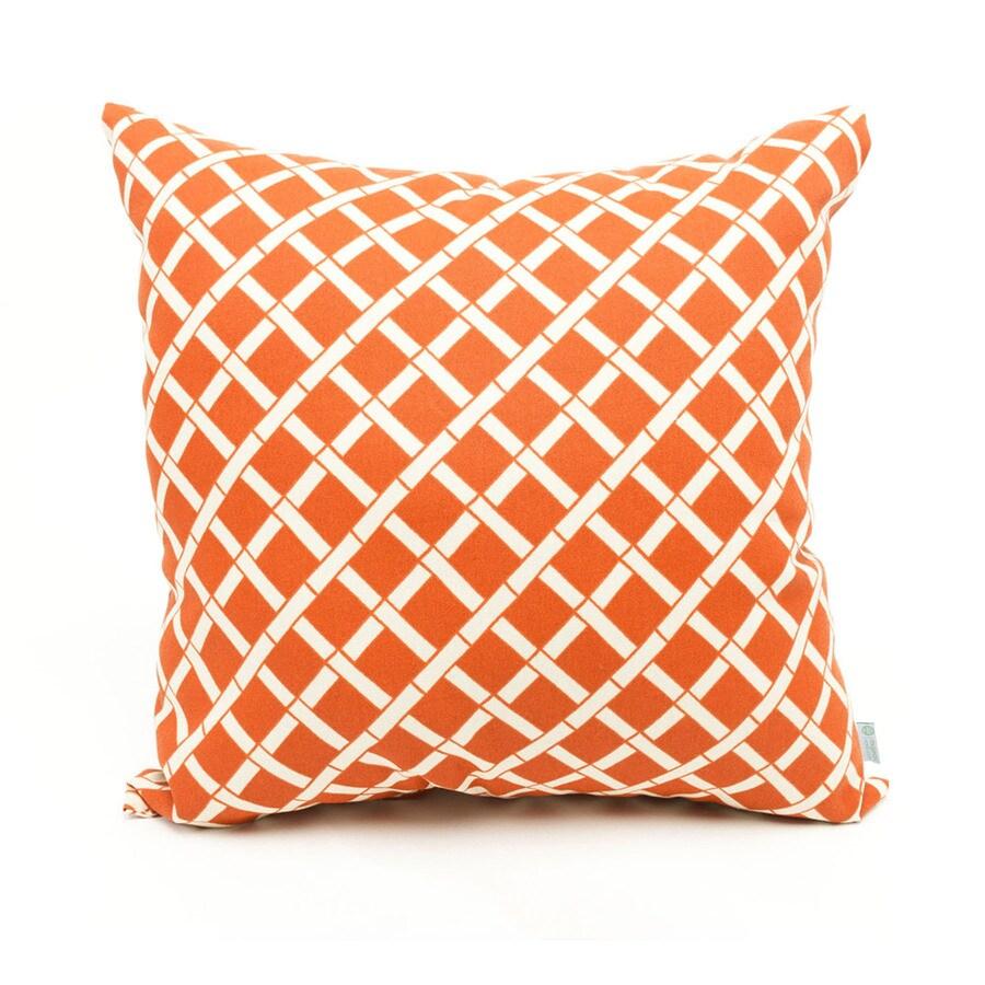 Majestic Home Goods Burnt Orange Bamboo Geometric Square Outdoor Decorative Pillow