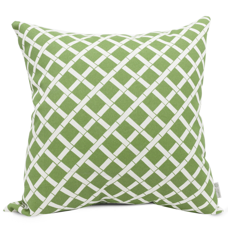 Shop Majestic Home Goods Sage Bamboo Geometric Square Outdoor Decorative Pillow at Lowes.com