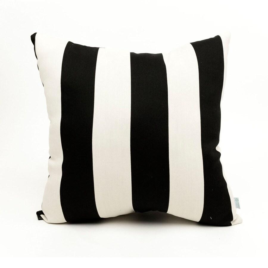 Majestic Home Goods Black Vertical Stripe Square Outdoor Decorative Pillow