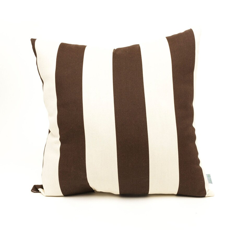 Shop Majestic Home Goods Chocolate Vertical Stripe Square Outdoor Decorative Pillow at Lowes.com