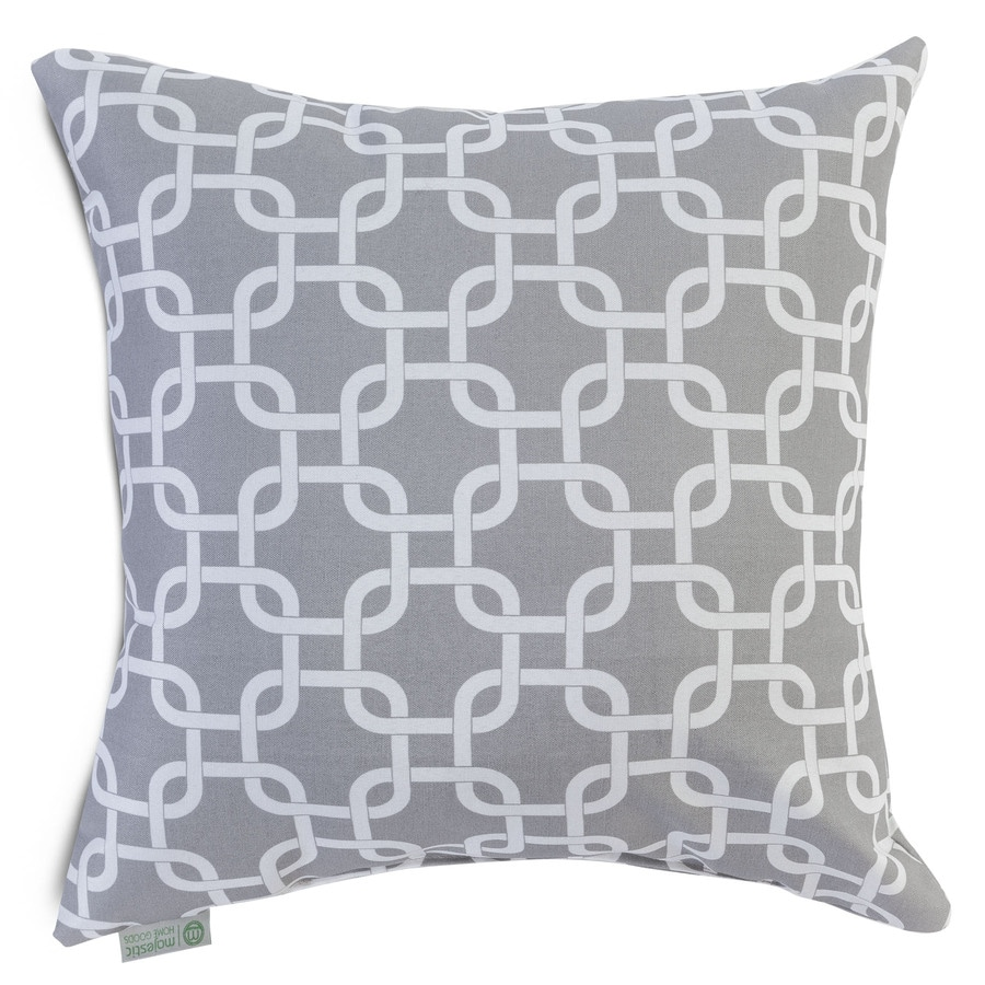 Throw Pillows Home Goods : Shop Majestic Home Goods Gray Links Geometric Square Outdoor Decorative Pillow at Lowes.com