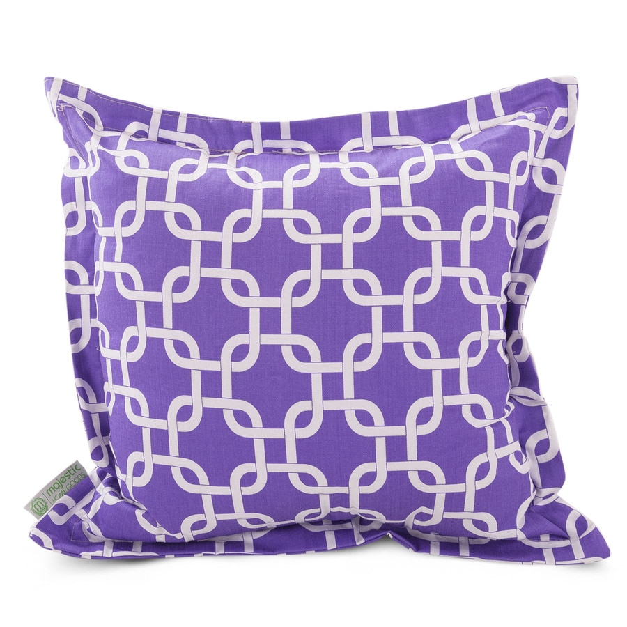 Majestic Home Goods 20-in W x 20-in L Purple Square Indoor Decorative Complete Pillow