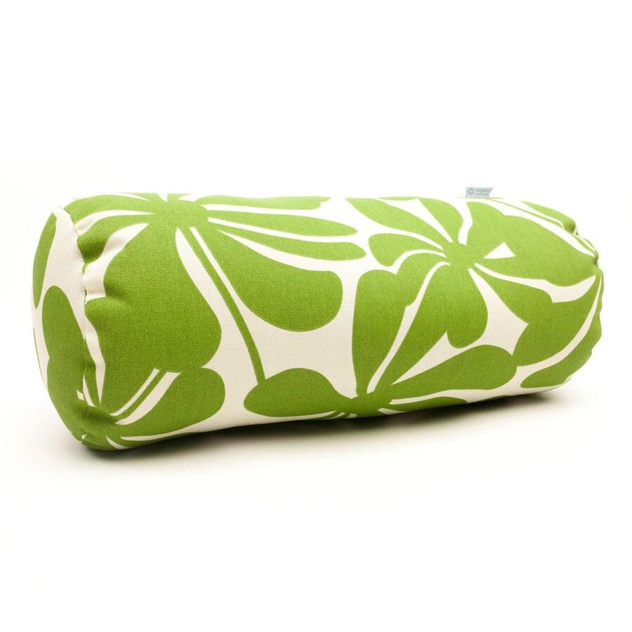 Majestic Home Goods Sage Plantation Floral Bolster Outdoor Decorative Pillow