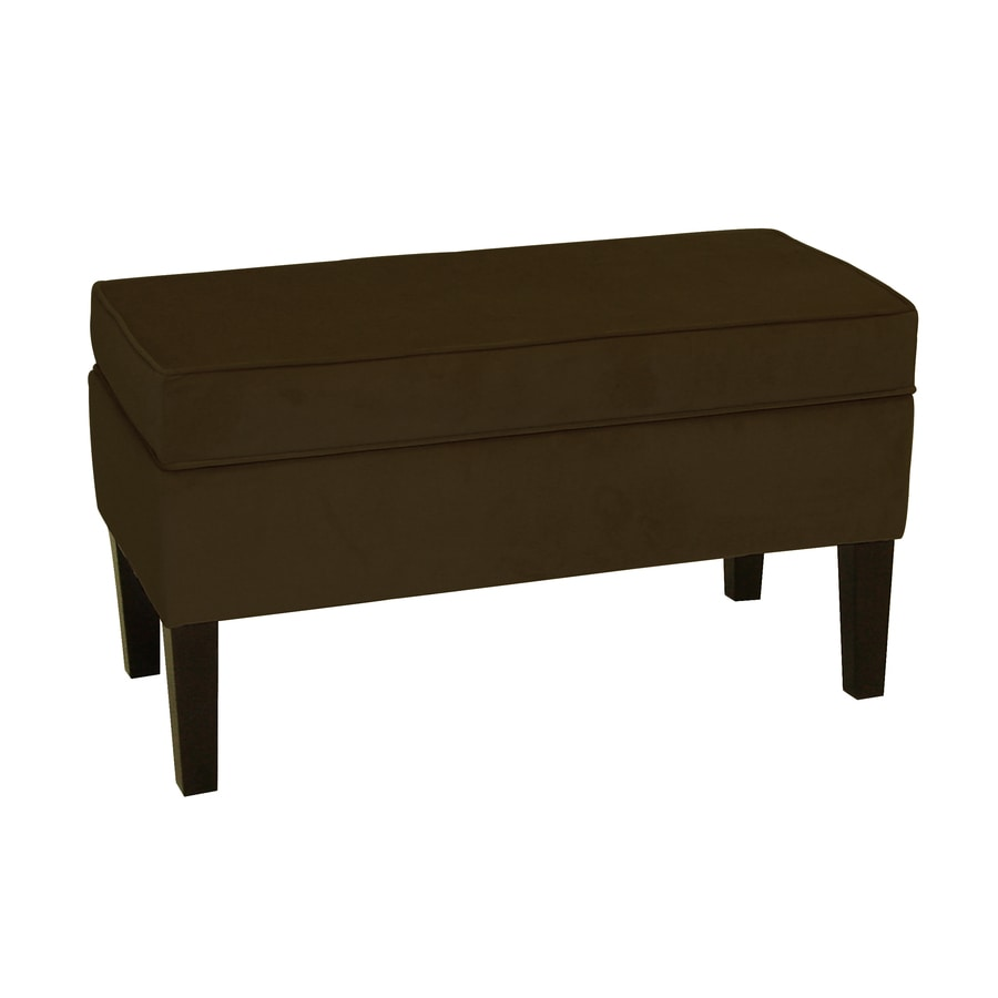 Shop Skyline Furniture Diversey Chocolate Indoor Accent Bench At