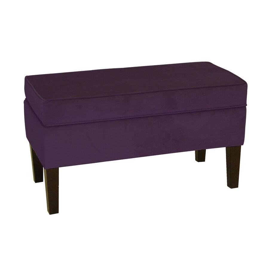 Skyline Furniture Diversey Aubergine Indoor Accent Bench