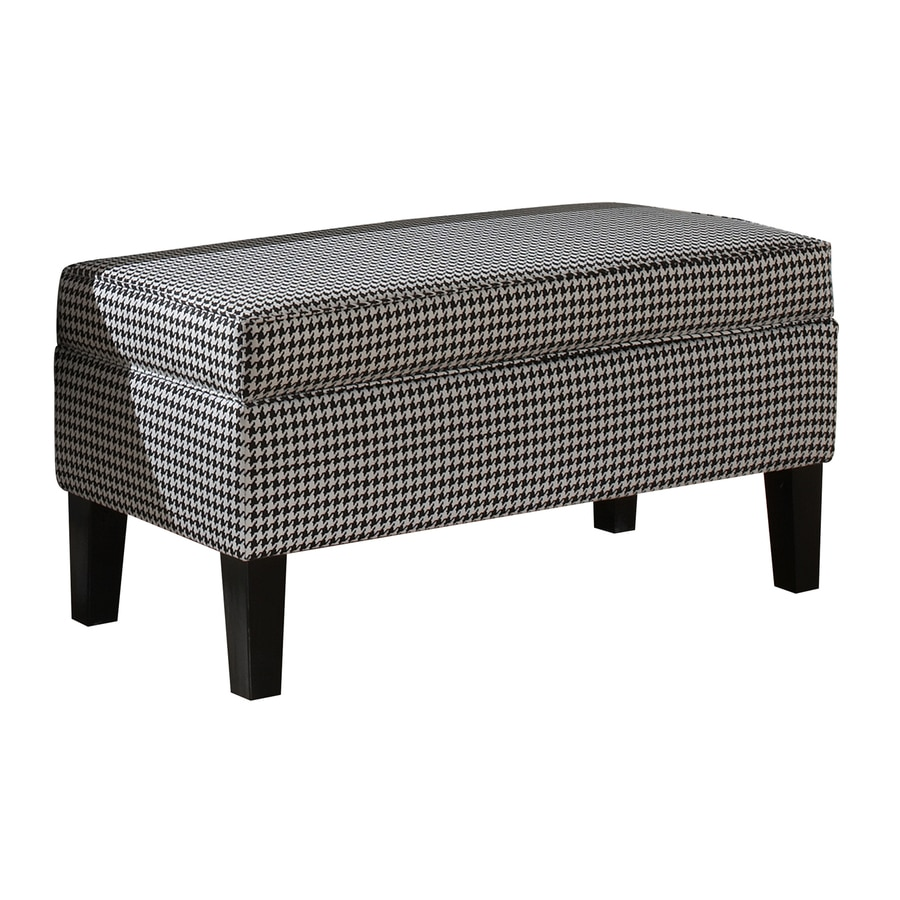 Shop Skyline Furniture Diversey Black White Indoor Accent Bench With Storage At