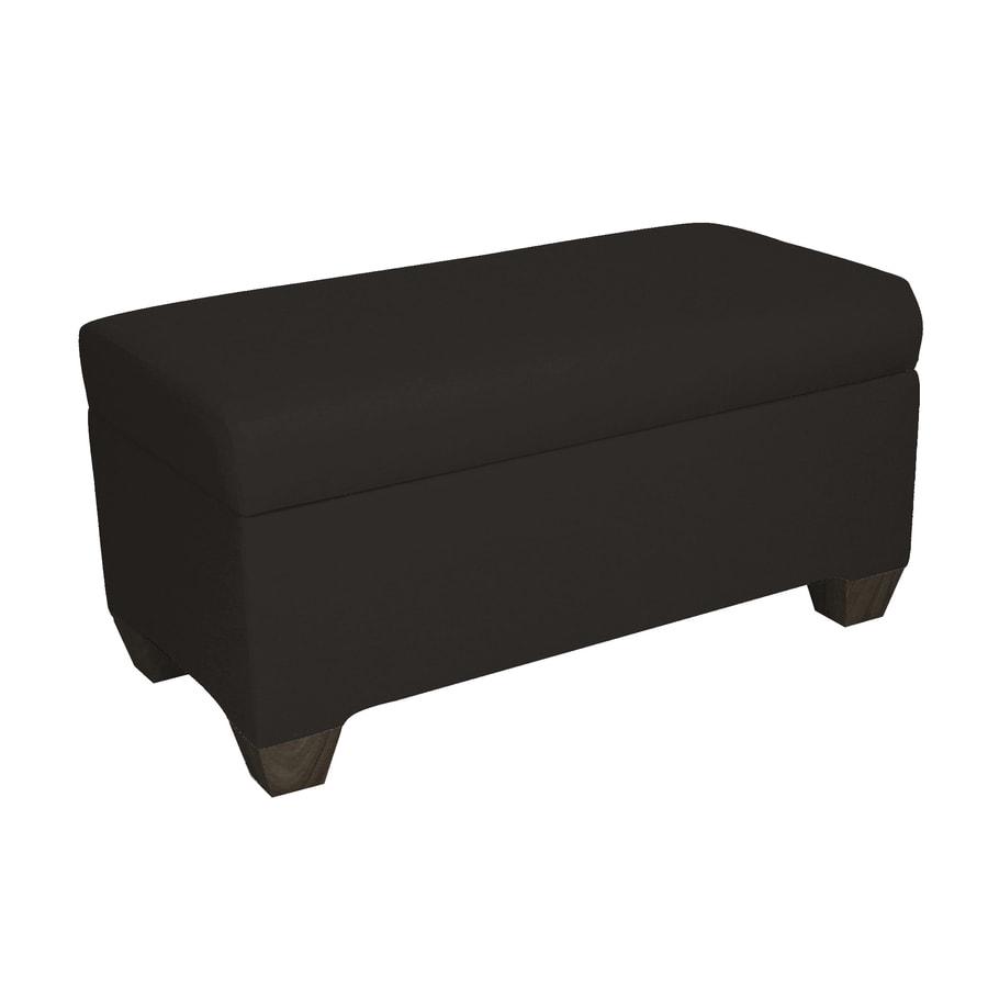 Skyline Furniture Halstead Black Indoor Accent Bench with Storage