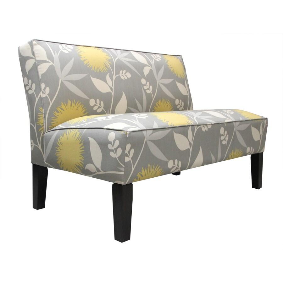 Skyline Furniture Clark Collection Dove Cotton Settee
