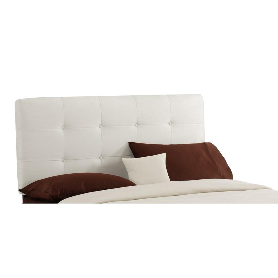 Skyline Furniture Sheridan White California King Microsuede Headboard