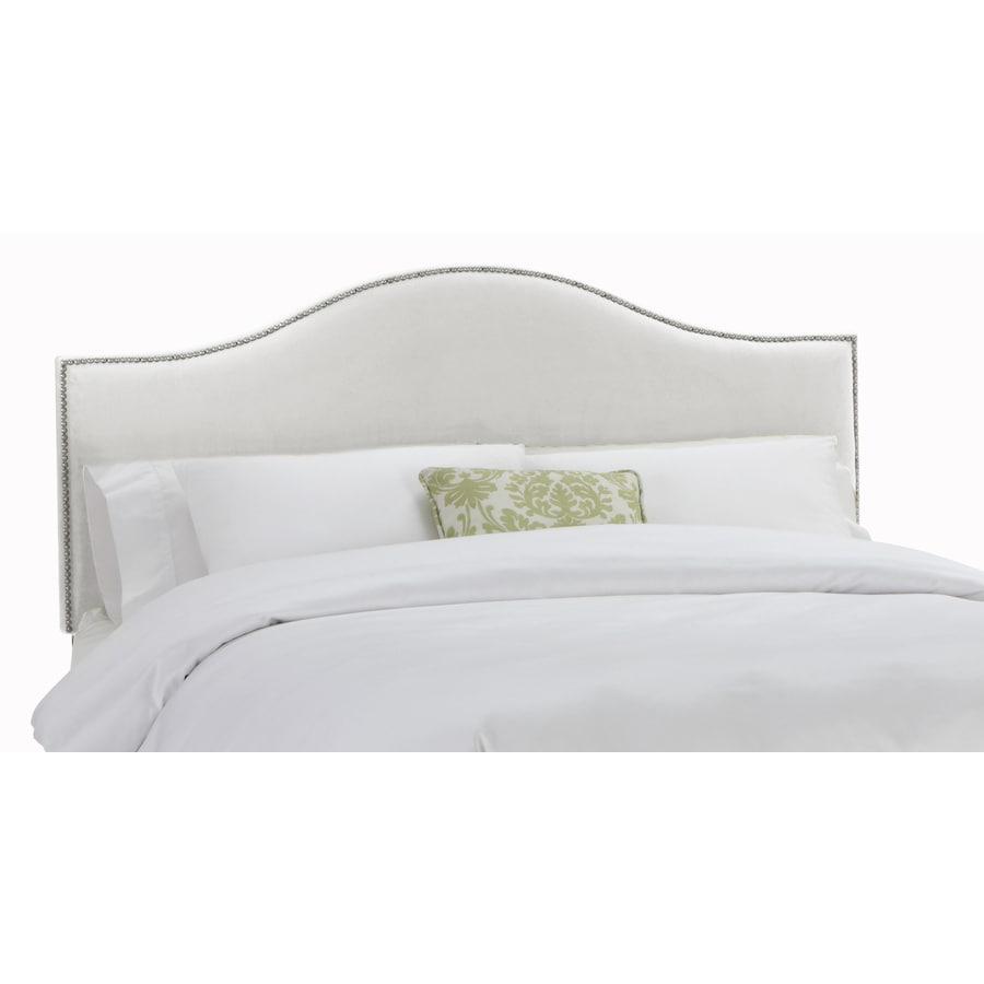 Skyline Furniture Armitage White Queen Velvet Headboard