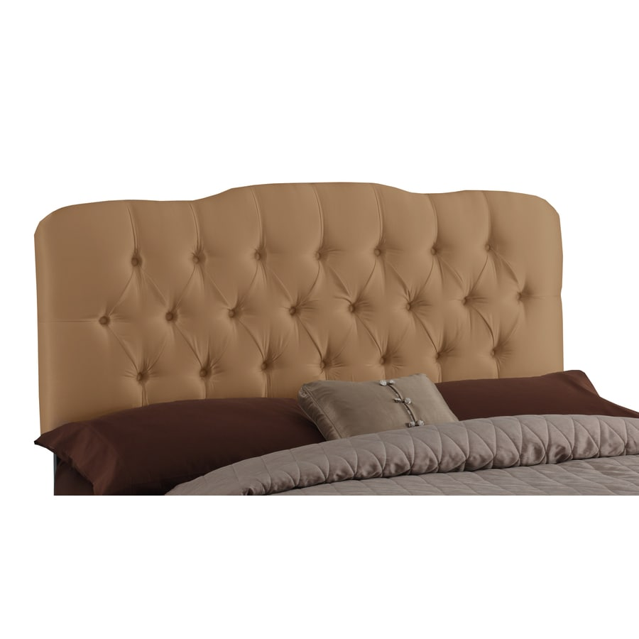 Skyline Furniture Quincy Khaki Full Textured Cotton Headboard