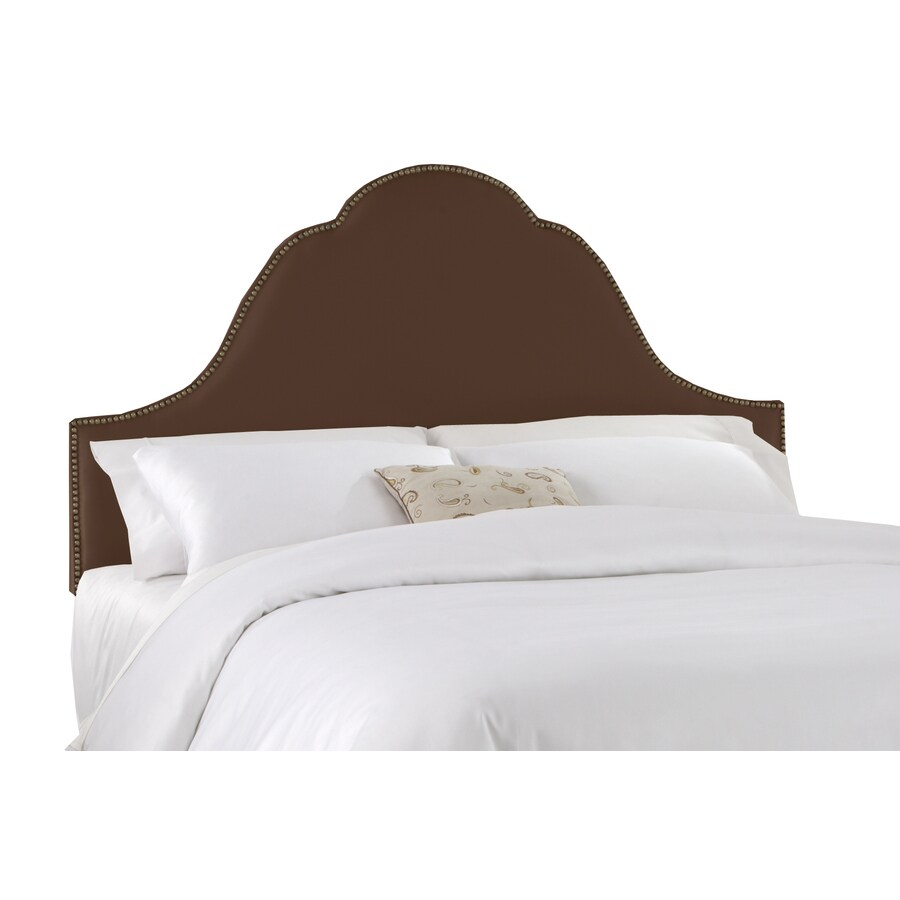 Skyline Furniture Clybourn Collection Chocolate Queen Textured Cotton Headboard