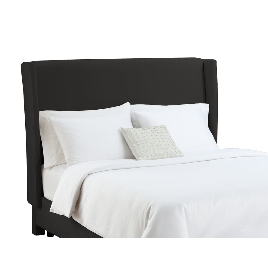Skyline Furniture Diversey Black King Velvet Headboard