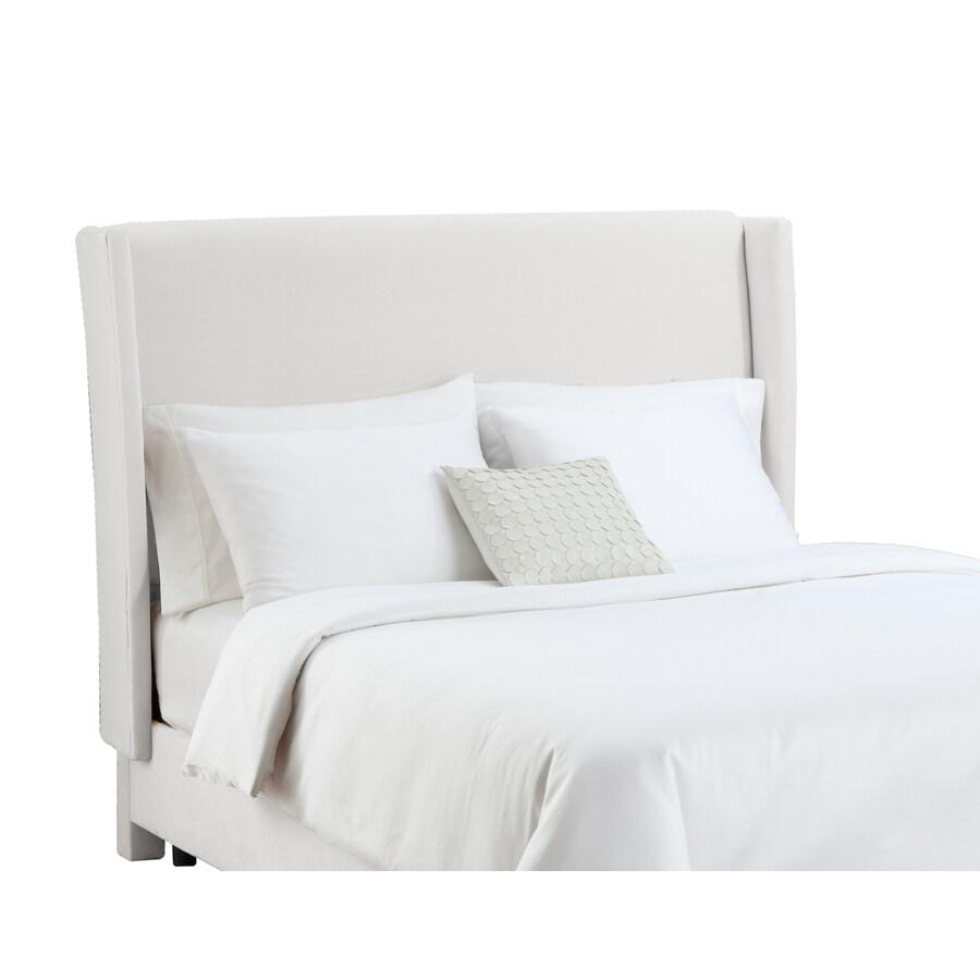 Skyline Furniture Diversey White Queen Velvet Headboard