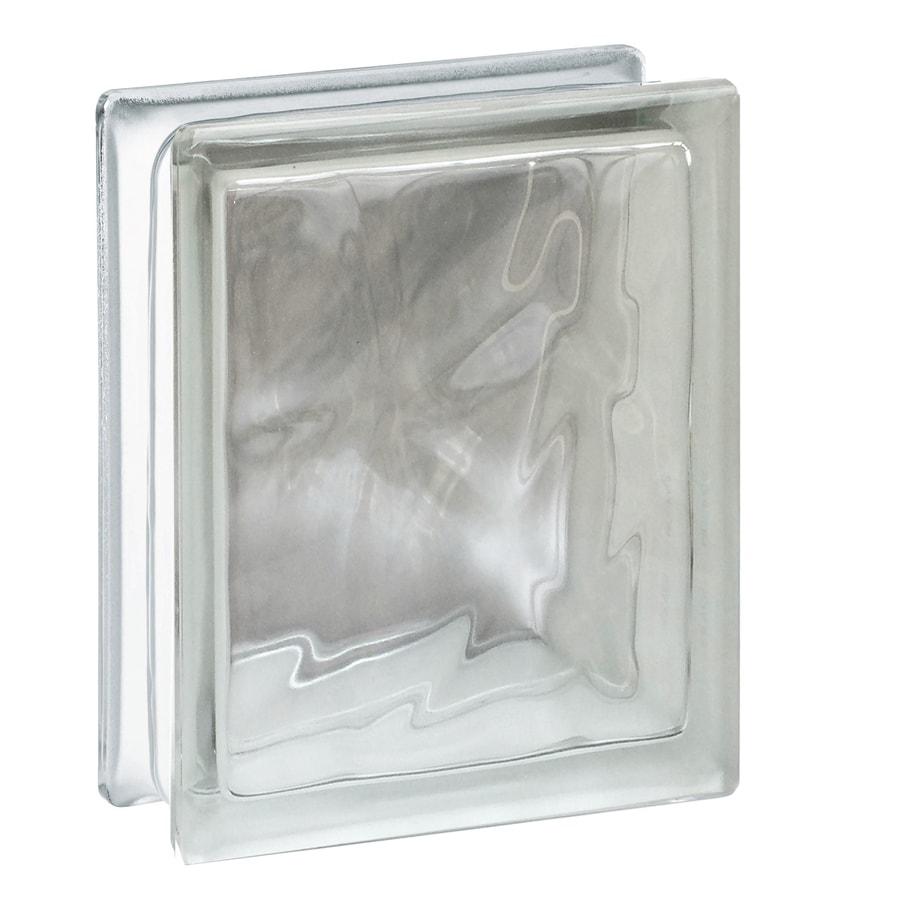 REDI2SET Glass Block (Common: 8-in H x 6-in W x 3-in D; Actual: 7.75-in H x 5.75-in W x 3.12-in D)
