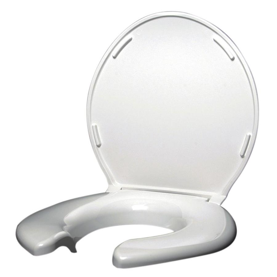 Big John Products White Plastic Elongated Toilet Seat