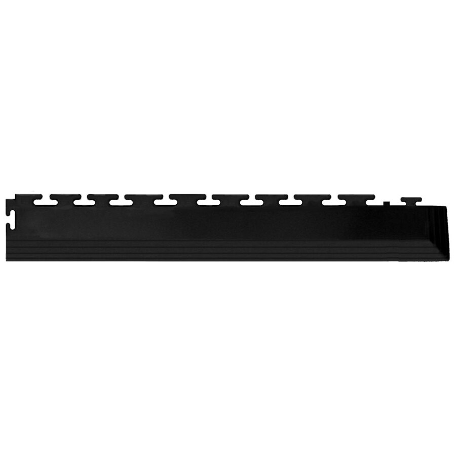 Blue Hawk 4-Pack 2.5-in x 23-in Black Loose Lay PVC Plastic Tile