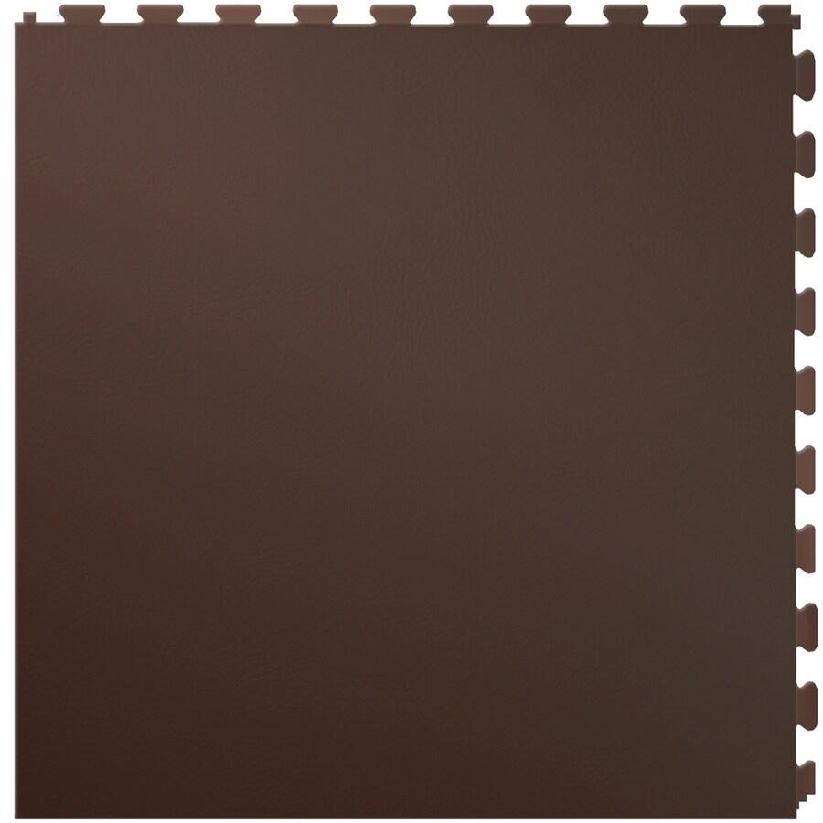 Perfection Floor Tile 6-Piece 20-in x 20-in Raw Hide Leather Garage Floor Tile