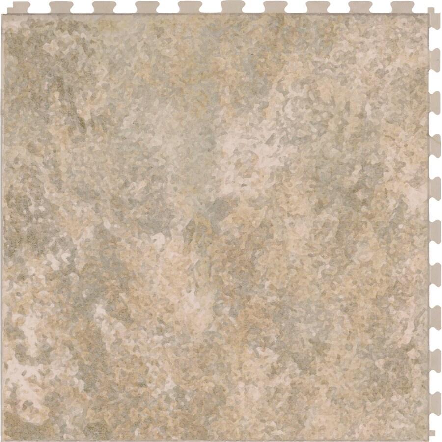 Perfection Floor Tile 6-Piece 20.5-in x 20.5-in Sandstone Slate Garage Floor Tile