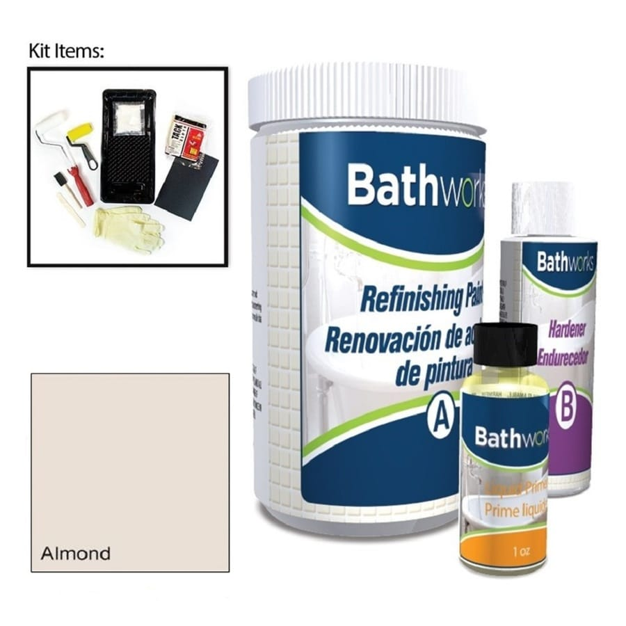 Bathworks Almond High-Gloss Tub and Tile Resurfacing Kit (Actual Net Contents: 20-fl oz)
