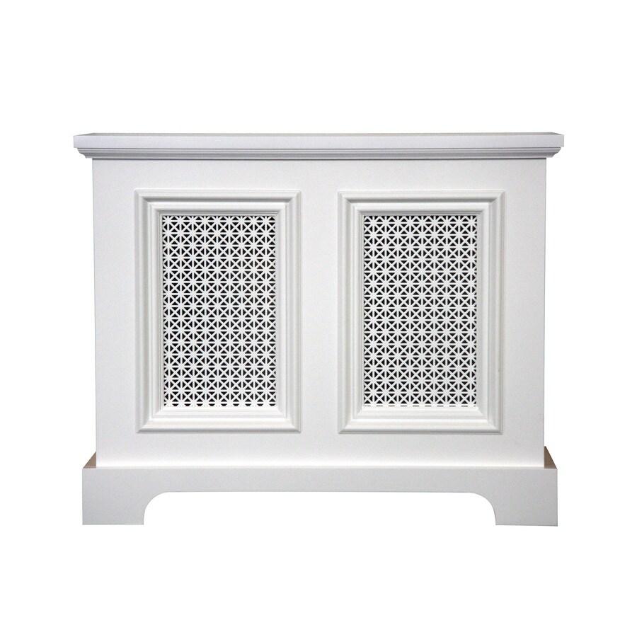 Fichman Furniture Back Bay 29.5-in x 23.75-in White Radiator Cover