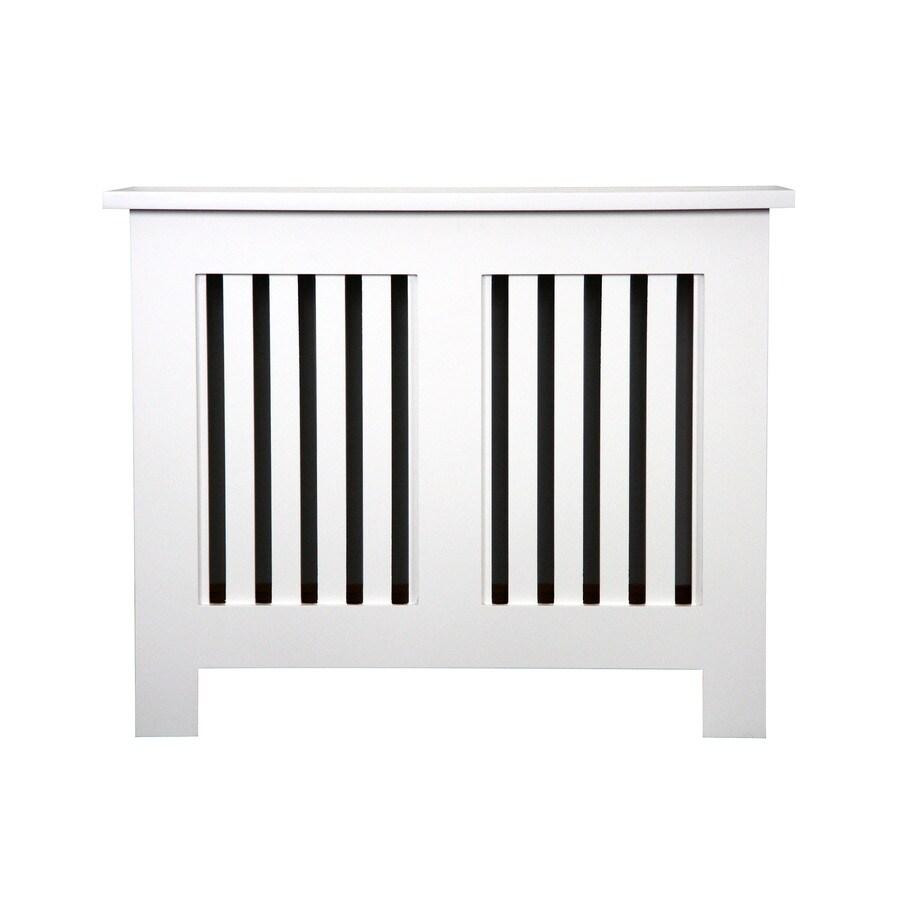 Fichman Furniture Shaker 29.5-in x 23.75-in White Radiator Cover