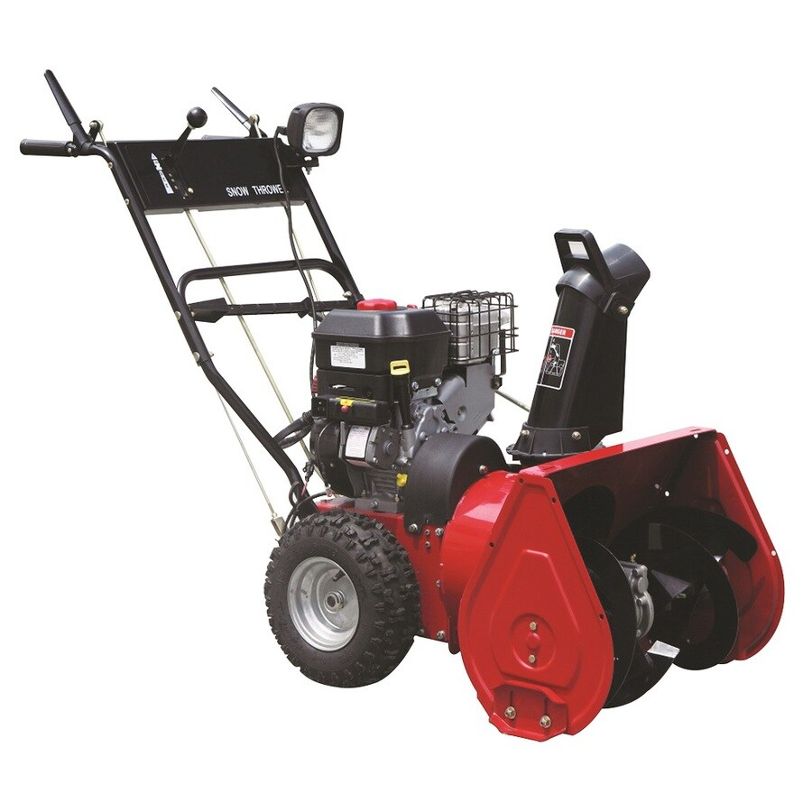 Worldlawn 305cc 26-in Two-Stage Pull Start Gas Snow Blower with Headlights