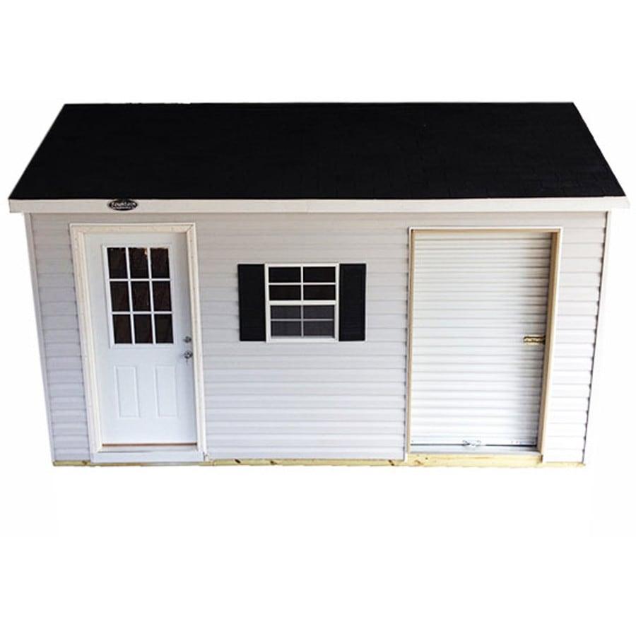 Shop fountain buildings gable vinyl wood storage shed for Vinyl storage buildings