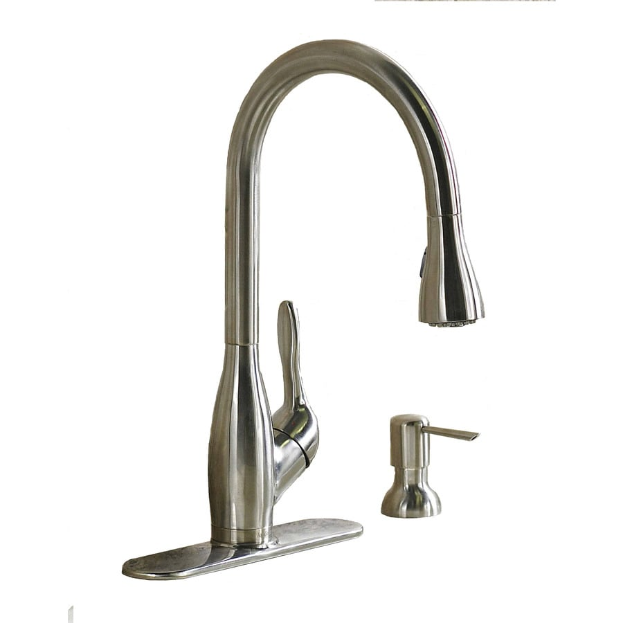 AquaSource Stainless Steel 1-Handle Pull-Down Kitchen Faucet