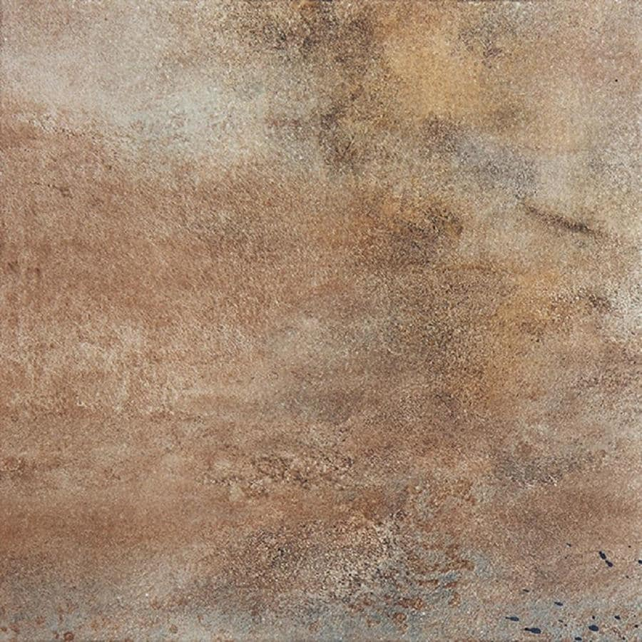 FLOORS 2000 Iron 7-Pack Brown Porcelain Floor and Wall Tile (Common: 18-in x 18-in; Actual: 17.72-in x 17.72-in)