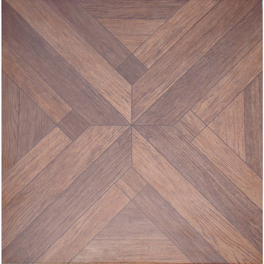 FLOORS 2000 Bolero 7-Pack Beige Wood Look Porcelain Floor and Wall Tile (Common: 18-in x 18-in; Actual: 17.72-in x 17.72-in)