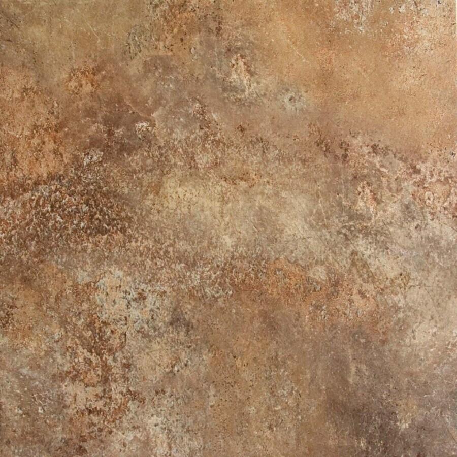 FLOORS 2000 7-Pack Altamira Lava Glazed Porcelain Indoor/Outdoor Floor Tile (Common: 18-in x 18-in; Actual: 17.72-in x 17.72-in)