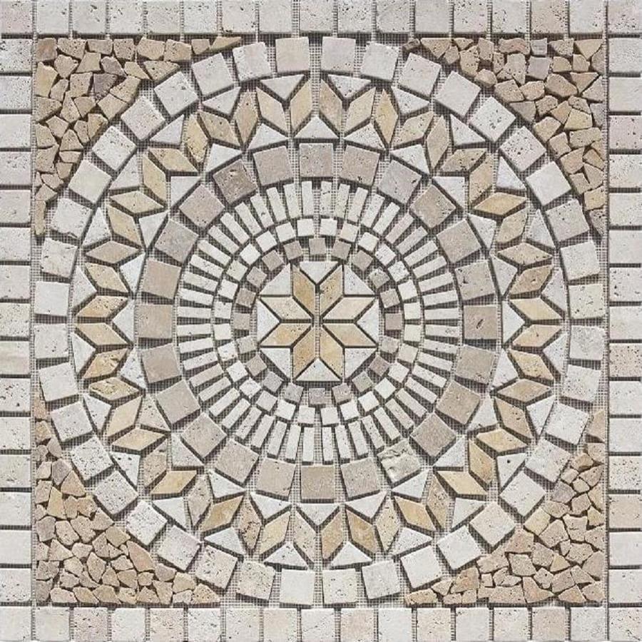 Shop Marmaris 502 Multi Color Mosaic Floor Tile Common 36 In X 36 In Actual 36 In X 36 In