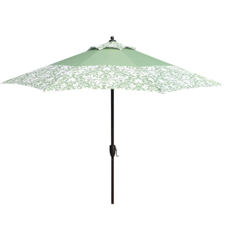 Garden Treasures 9-ft Green Round Market Umbrella