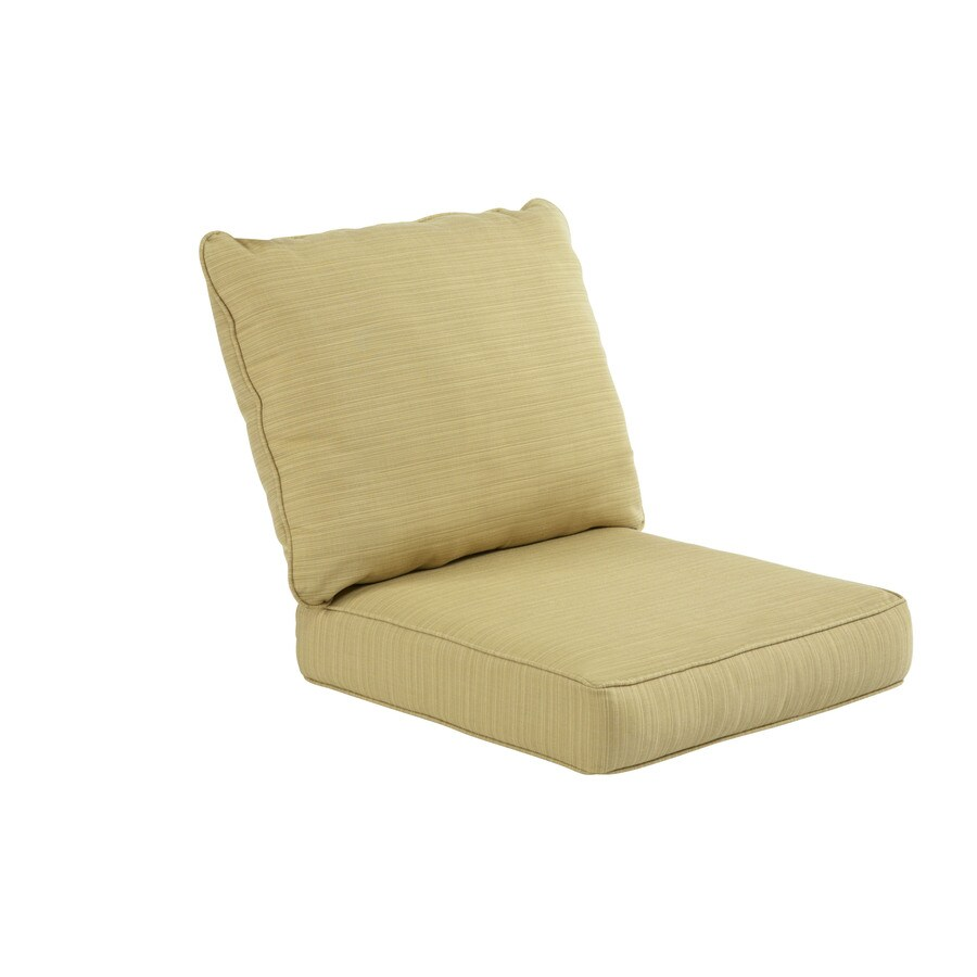 Allen roth sunbrella dupione bamboo deep seat patio chair for Sunbrella patio furniture cushions