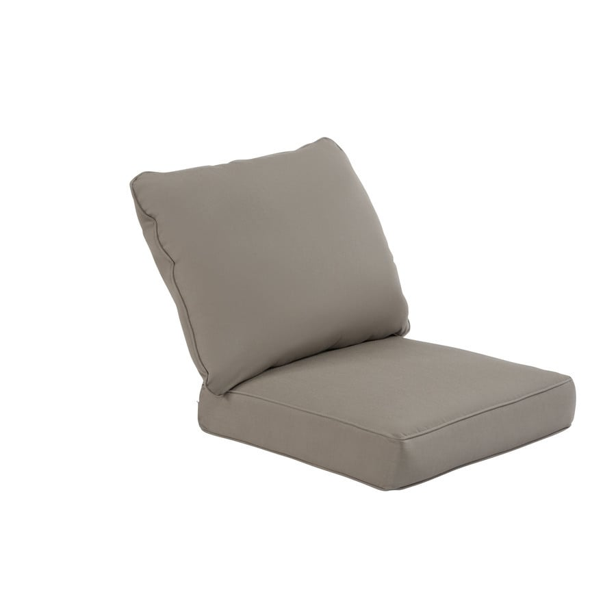 allen + roth Sunbrella Taupe Deep Seat Patio Chair Cushion