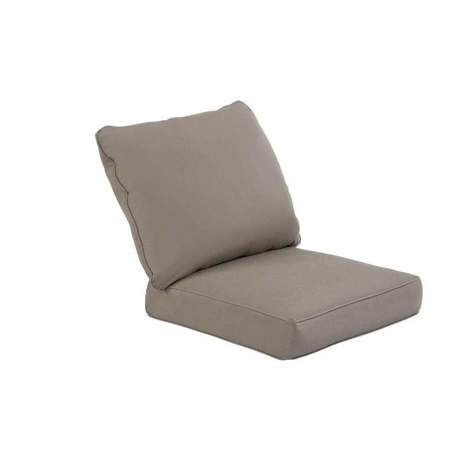 allen + roth Sunbrella Taupe Deep Seat Patio Chair Cushion