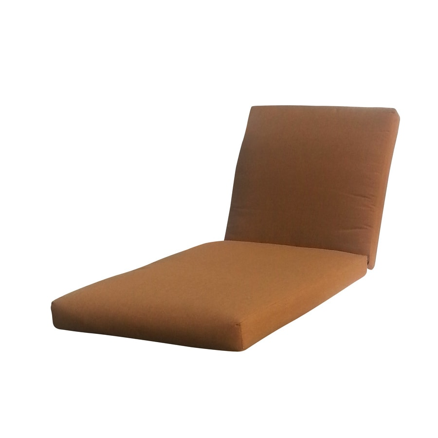 Shop allen roth sunbrella canvas teak brown patio chaise for Allen roth steel patio chaise lounge