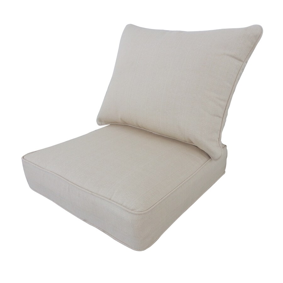 allen + roth Sunbrella Linen Antique Beige Deep Seat Patio Chair Cushion