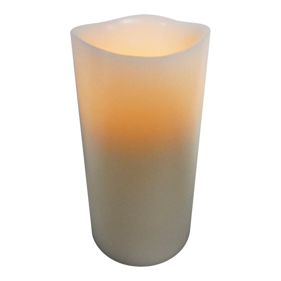 allen + roth 6-in Cream Electric Pillar Candle with Timer